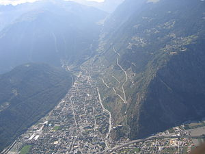 Martigny-Combe - The Combe valley with parts of Martigny-Combe