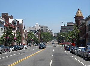 M Street (Washington, D.C.) - Looking east on M Street NW in Georgetown