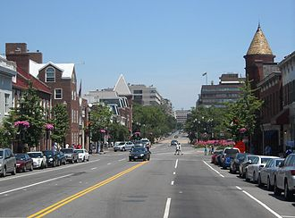 M Street - Looking east on M Street NW in Georgetown