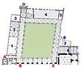 Maastricht, St-Servaasbasiliek, plattegrond kruisgang, kapel, sacristie en pastorie.jpg