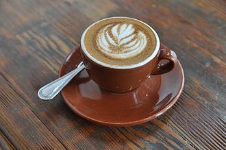Caffè macchiato - Image: Macchiato Four Barrel