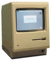 The Macintosh 128K, the first Macintosh, was the first commercially successful personal computer to use images, rather than text, to communicate.