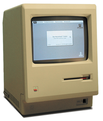 Compact Macintosh - The Macintosh 128K introduced the Compact Macintosh case style. The bevelled edges were also used on Apple's other products of the time like the Apple II series and the Apple III