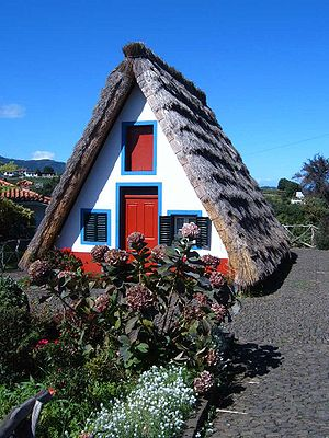 Santana, Madeira - An example of the traditional Madeirense home found in the municipality of Santana