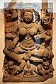 Madhya pradesh, due pacifica durga a dieci braccia seduta su un trono di leoni, xi secolo.jpg