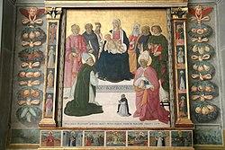 Madonna in trono col Bambino e santi di Pier Francesco Fiorentino, 1494.jpg