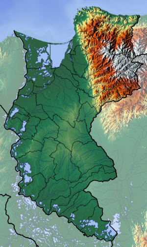 Bucaramanga-Santa Marta Fault - Topography of Magdalena