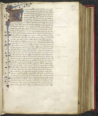 A version of the Charter of 1217, produced between 1437 and c. 1450 Magna Carta confirmed by Henry III.jpg