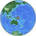 Magnitude 7.3 - NEW IRELAND REGION, PAPUA NEW GUINEA 2005 September 9 07-26-44 UTC globe.jpg