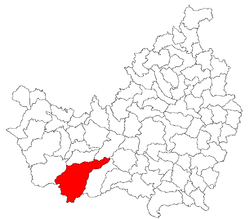 Location of Măguri-Răcătău