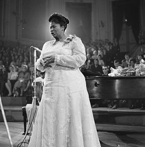 Gospel music - Mahalia Jackson in the Concertgebouw concert hall, The Netherlands