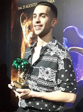 """Soldi - Mahmood with the """"Golden Lion"""" received for placing first in the 69th Sanremo Music Festival with the song """"Soldi"""""""
