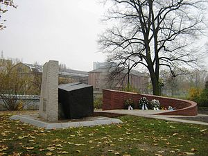 Spandau Synagogue - 1988 memorial extended in 2012 to commemorate the Jews from Spandau who were deported and murdered