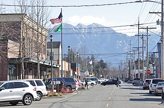 Sultan, Washington - Main Street in downtown Sultan