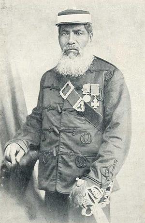 Kūpapa - Ngāti Porou chief and kūpapa leader Major Ropata Wahawaha.