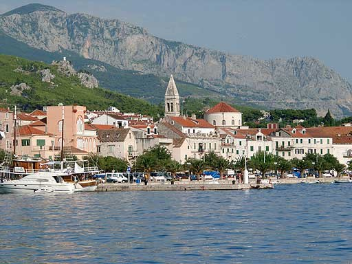 Makarska from port