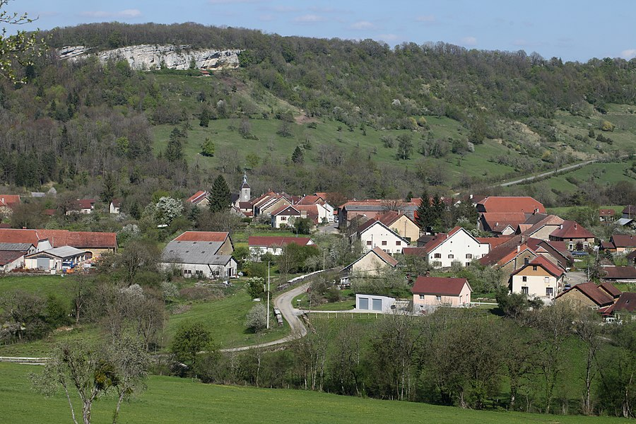 Vue de Malans (Doubs).