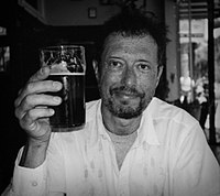 Malcolm Brenner enjoying a beer in San Francisco circa 2005