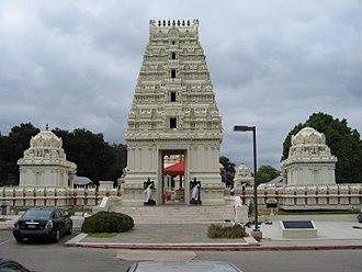 Growth of religion - Malibu Hindu Temple in California.