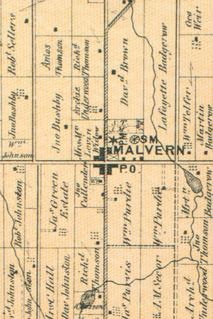 Malvern, Toronto - A map of Malvern in 1870