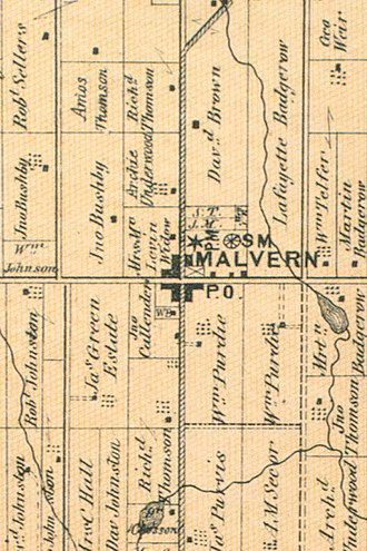 Malvern, Toronto - A map of Malvern in 1870