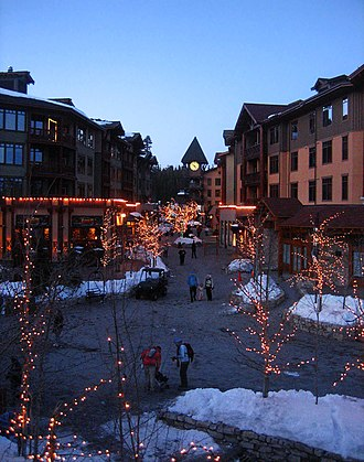 "Mammoth Lakes, California - The ""Village"" section of town"