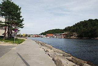 Mandalselva river in Norway