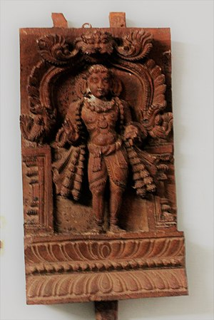 Manikkavacakar - Manickavackar (Wooden Image), ASI Museum, Vellore