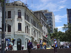 Manizales - Street of Manizales near the major square