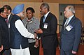 Manmohan Singh meeting the foreign delegates, at the inauguration of the 11th International Oil & Gas Conference and Exhibition – PETROTECH-2014, in Noida (1).jpg