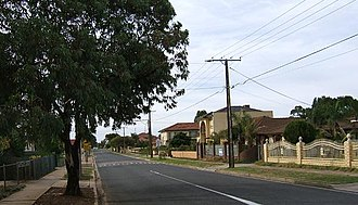 Mansfield Park, South Australia - Mansfield Park streetscape in 2006