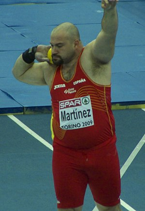 1992 Ibero-American Championships in Athletics - Manuel Martínez of Spain won the shot put silver medal at the age of 18.