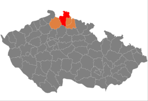 District location in the Liberec Region within the Czech Republic