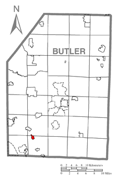 Map of Callery, Butler County, Pennsylvania Highlighted.png