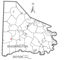 Map of Claysville, Washington County, Pennsylvania Highlighted.png