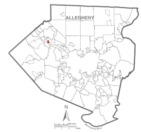 Map of Haysville, Allegheny County, Pennsylvania Highlighted.png