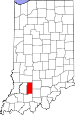 Map of Indiana highlighting Martin County.svg