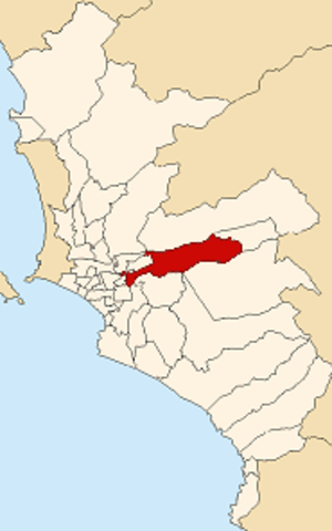 Ate District - Image: Map of Lima highlighting Ate
