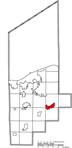 Grafton, Ohio - Image: Map of Lorain County Ohio Highlighting Grafton Village