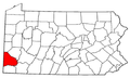 Map of Pennsylvania highlighting Washington County.png