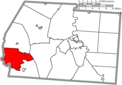 Location of Paint Township in Ross County