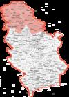 Mapa Vojvodine