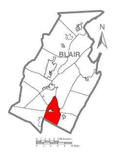 Map of Taylor Township, Blair County, Pennsylvania Highlighted.png