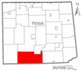 Map of Tioga County Pennsylvania Highlighting Morris Township.PNG