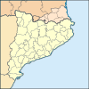 Cervera is located in Catalunya