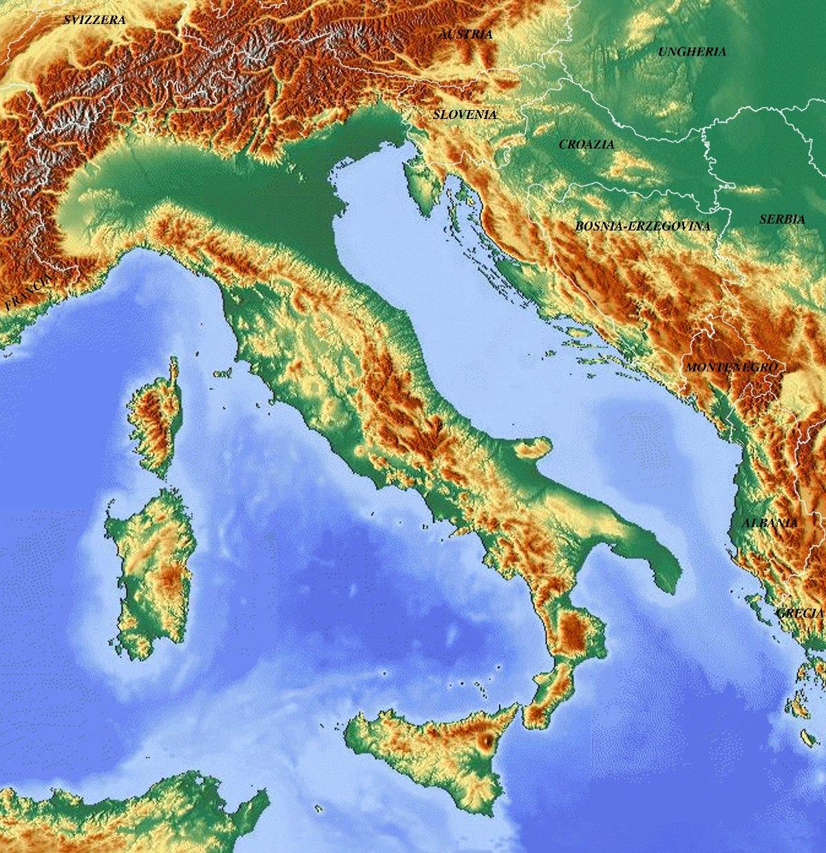 Cartina Dell Italia Alpi E Appennini.File Mappa Dell Italia Jpg Wikimedia Commons