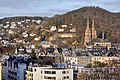 Marburg Nordviertel mit Elisabethkirche und Kirchspitze von SO 2.jpg