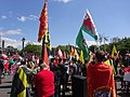 March for Welsh Independence arranged by AUOB Cymru First national march; Wales, Europe 01.jpg