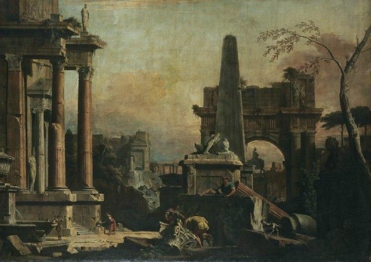 Marco Ricci and Sebastiano Ricci - A Capriccio of Classical Rome