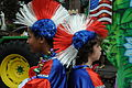 Mardi Gras 2009 Krewe of King Arthur Red White Blue Wigs.jpg